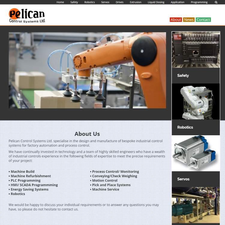 Pelican Control Systems – Web Design